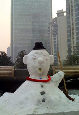 Laowai snowman at Summit